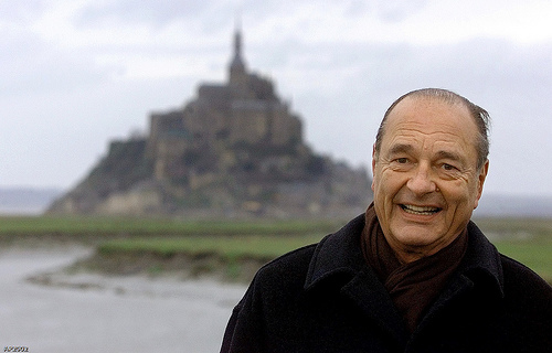 Jacques Chirac; photo by Franck Prevel