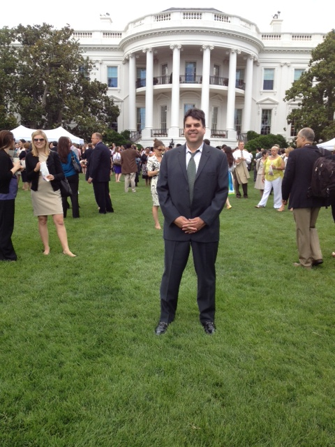 Chuck at white house